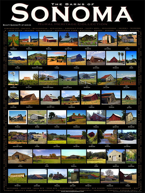 Barns of Sonoma Poster